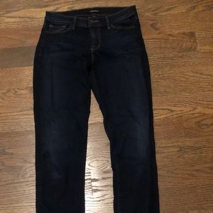 J BRAND MID RISE RAIL TIGHT DARK JEANS SIZE 27